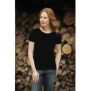 Women's Crew Neck T-Shirt 205 G  black