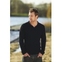 Men's Long Sleeve Polo 170-180 black
