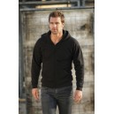 Hooded Zip 280 G Black