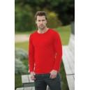 T-Shirt męski długi rękaw 180G red